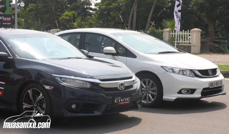 So sánh Honda Civic 2017 thế hệ thứ 10 và Honda Civic thế hệ thứ 9