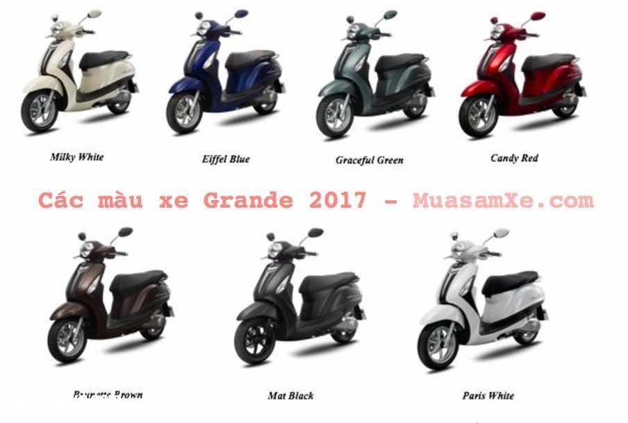 Yamaha Grande 2017 giá bao nhiêu? có mấy màu?