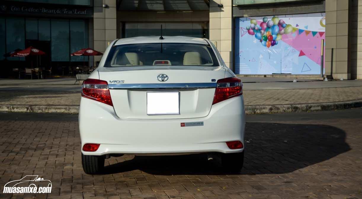 Đánh giá Toyota Vios 1.5 G 2017 về thiết kế vận hành và giá bán