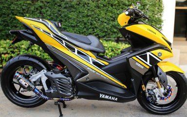 Ngắm Yamaha NVX độ với gam màu vàng cùng đồ chơi hiệu cực chất 1